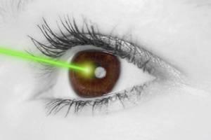 Licht in das Auge schaedlich