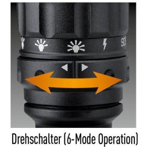 Drehschalter zur Leuchtmoduseinstellung